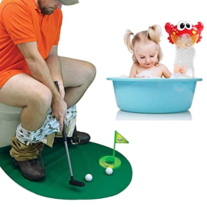 Amazon.com: TECHLINK Juego de golf Potty Mini Golf Putter ...