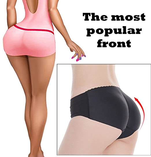 Image Unavailable. Image not available for. Color  Lelinta Lady s Sponge  Padded Seamless Butt Hip Lift Up Enhancer Shaper Panties 8f0e03e43