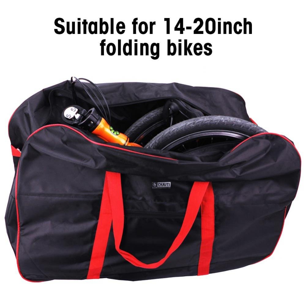 Dilwe Bicycle Carry Bag, Portable Folding 2 Sizes Transport Cover Carrying Case for 14-20in Bikes with Shoulder Strap by Dilwe (Image #6)