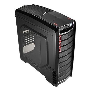Aerocool GTA - Caja gaming para PC (semitorre, ATX, ventana transparente, 7