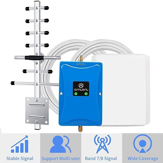 ANNTLENT Amplificador señal movil,Amplificador 4g 2600 MHz repetidor gsm 900 MHz para telefono movil Mejorar la Llamada de Voz y los Datos 4G: Amazon.es: Electrónica