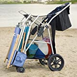 Most Popular Highest Rated Best Selling Beach Lake Wheeler Tote Deluxe Sturdy Cart Big Wheels