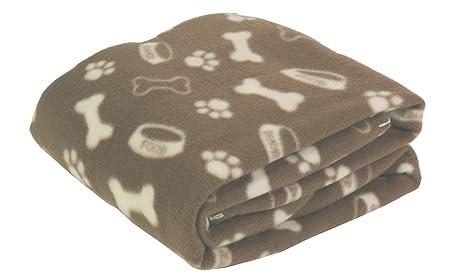 Octave Mascotas impresa manta para Mascotas - 120cm x 120cm - Marron, One Size