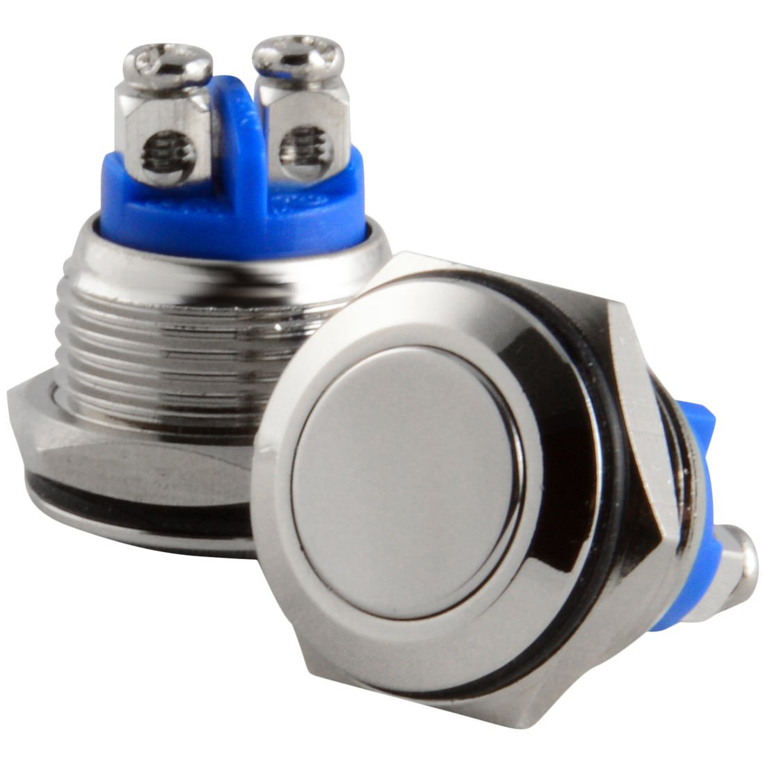 16mm Starter Switch / Boat Horn Momentary Push Button Stainless ...