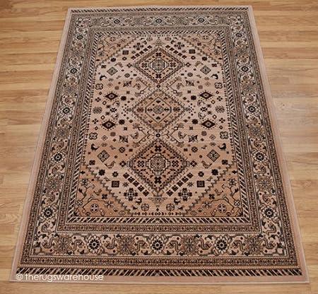 Afgano Kushan 100% nueva Zelanda lana color beige alfombra
