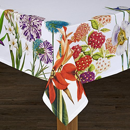 """HomeCrate Bright Vibrant Tiger Lily Tablecolth, 100% Cotton - 60"""" X 120"""""""