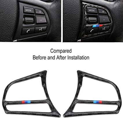Amazon com: VGEBY Steering Wheel Button Frame Cover Trim