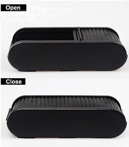 2PCS Universal Coche Auto Accessories Gafas Organizador Caja de Almacenamiento Soporte Negro