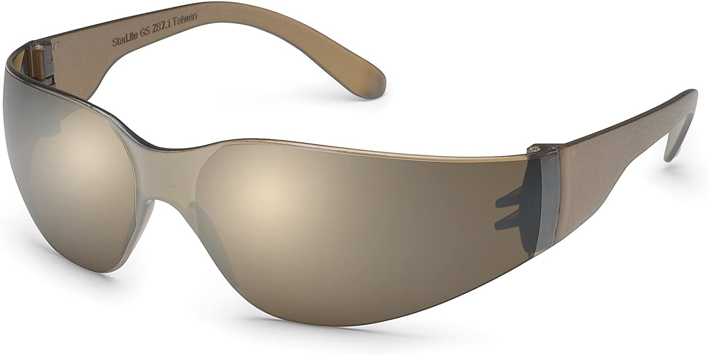 Mocha Temple Mocha Mirror Lens Lightweight Starlite Safety Glasses 466M Gateway