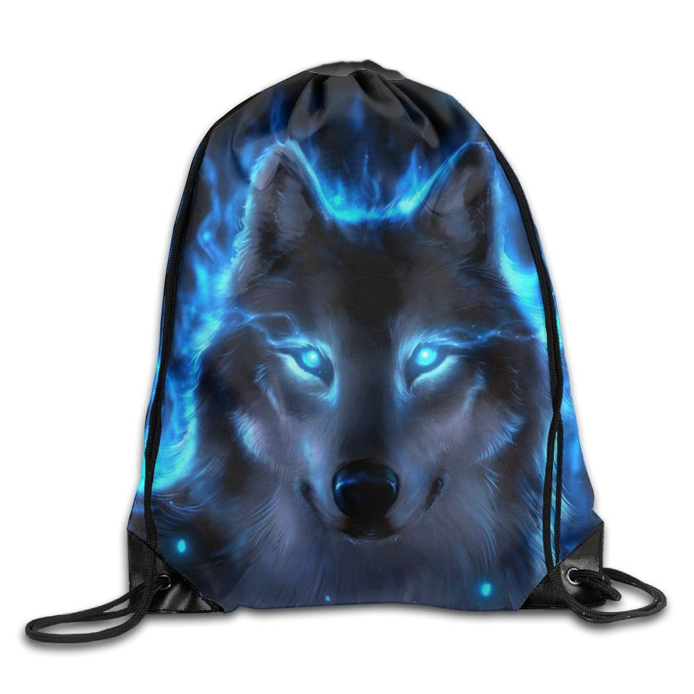 ZYHZYH Unisex Drawstring Backpack,Wolf Travel Bag Storage Bag,for Gym/Sports/Hiking/Climbing