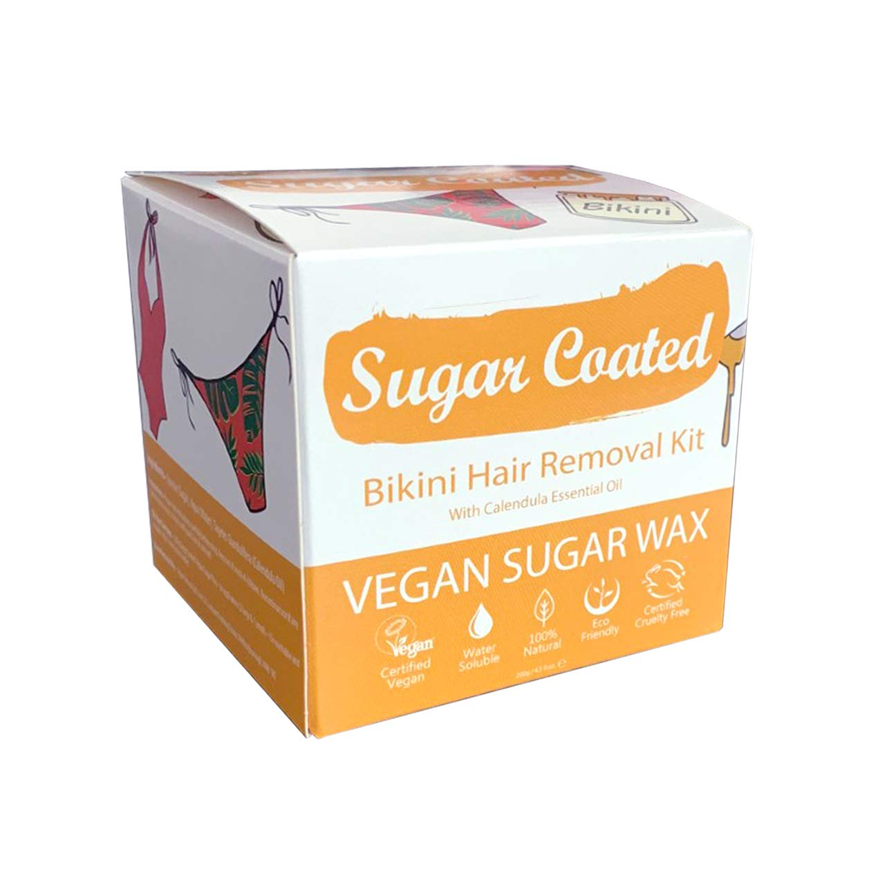 Amazon Com Sugar Coated Hair Removal Wax Kit For Bikini Line 1