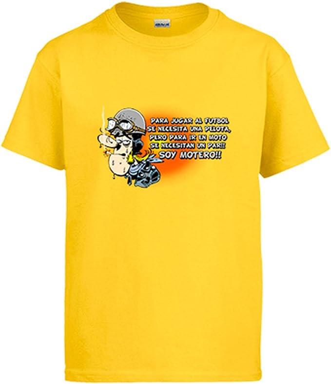 Diver Camisetas Camiseta para IR en Moto se Necesita un par Soy Motero: Amazon.es: Ropa y accesorios