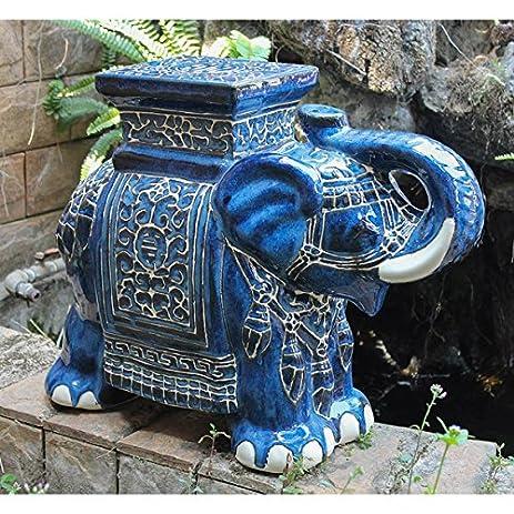 Large Porcelain Elephant Stool (Solid Blue Wash) & Amazon.com : Large Porcelain Elephant Stool (Solid Blue Wash ... islam-shia.org