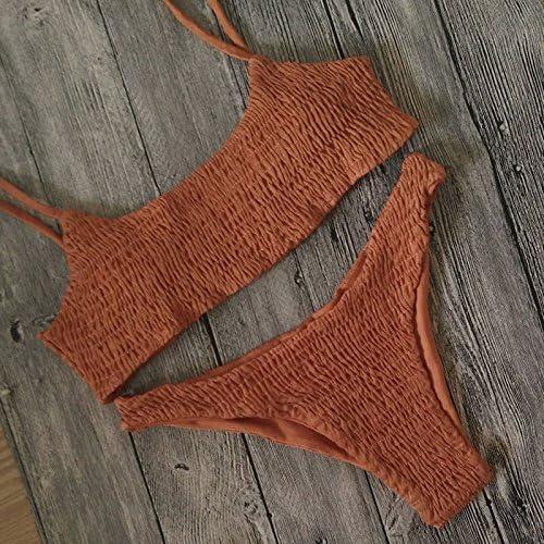 Poliestere bichini color nude small costumi da bagno donna Tankini costumi. tanga Yellow Zooarts/®