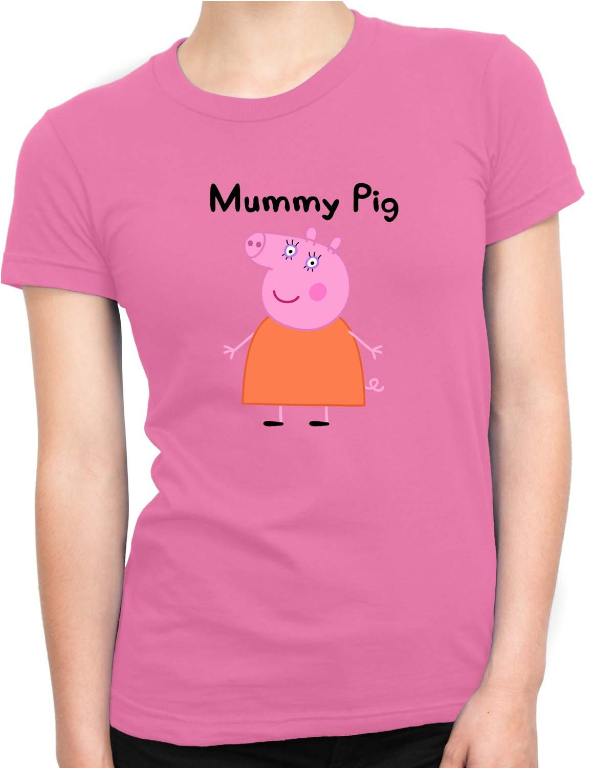 Amazon.com: Mummy Pig Women T Shirt Pink Medium: Clothing