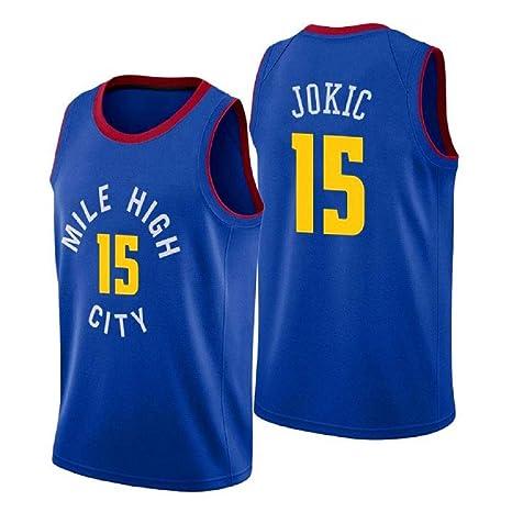 runvian Camiseta de Baloncesto para Hombre, NBA Denver Nuggets 15 ...