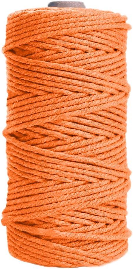 en Fil de Coton Naturel /épais Rouge D/écorations pour La Maison JeogYong Corde en Macram/é Cintres Corde en Macram/é /à 4 Plis pour Tentures Murales Emballage Cadeau 3mm x 100m Bricolage