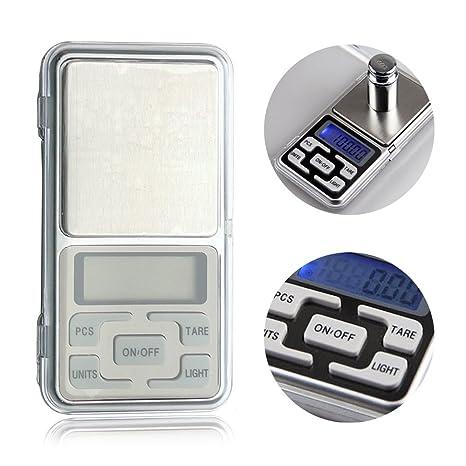 Mini báscula digital de bolsillo para joyas, medicinas, cocinas y otros