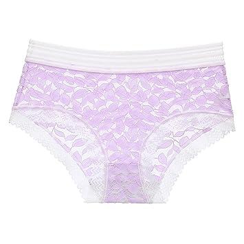 Keep Encaje Lado Dulce Chica Linda Ropa Interior algodón Inferior triángulo Ropa Interior Femenina púrpura