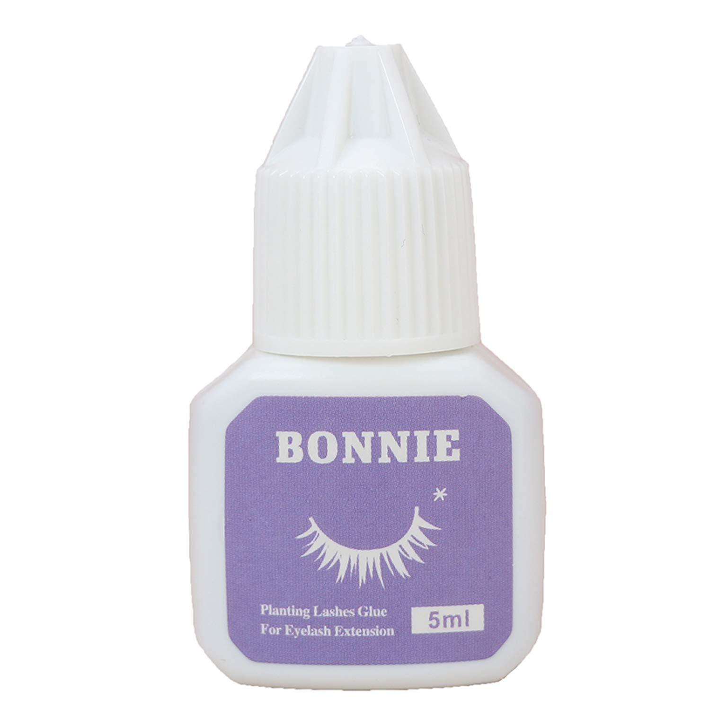 Eyelash Extension Glue for both Self and Professional Applications|Tasteless Non-Stimulating | 3-5 Sec Drying Time | Retention 20-25 Days | Sensitive Black Eyelash Glue by Bonnie, 5ml