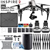 DJI INSPIRE 2 Quadcopter Drone with Zenmuse X7 Compact Super 35 3-Axis Gimbal/Camera - CinemaDNG & Apple Pro Res License Keys - Dual Remote Bundle