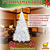 NEW Artificial Christmas Tree 7 ft Spruce Metal Stand Folding Realistic PINE Green---1000 tips