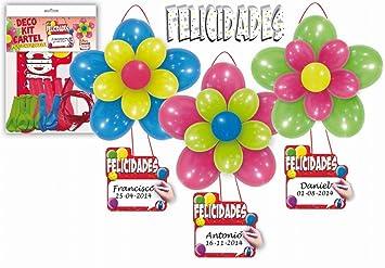 GLOBOLANDIA Deco Kit Cartel Felicidades: Amazon.es: Juguetes ...