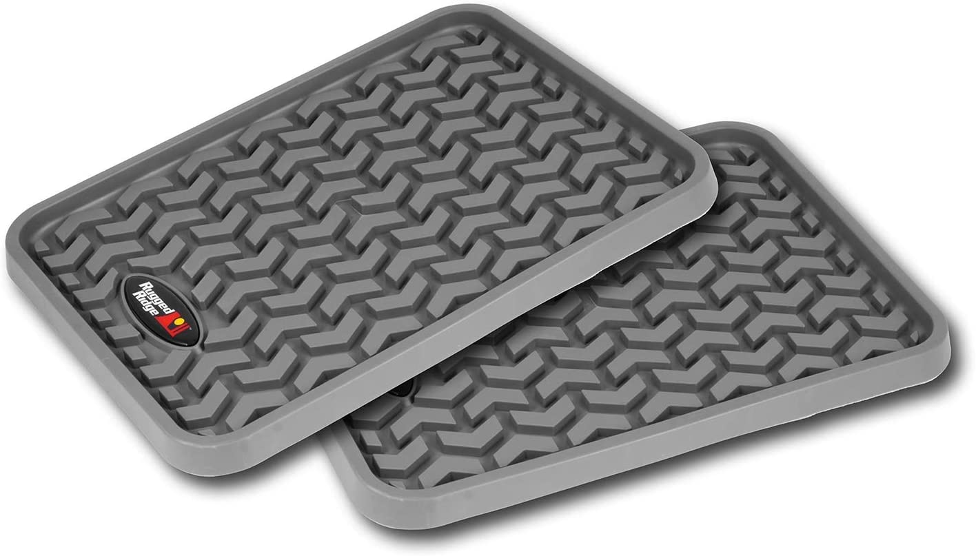 Pack of 2 Rugged Ridge 82950.01 All-Terrain Black Rear Floor Liner
