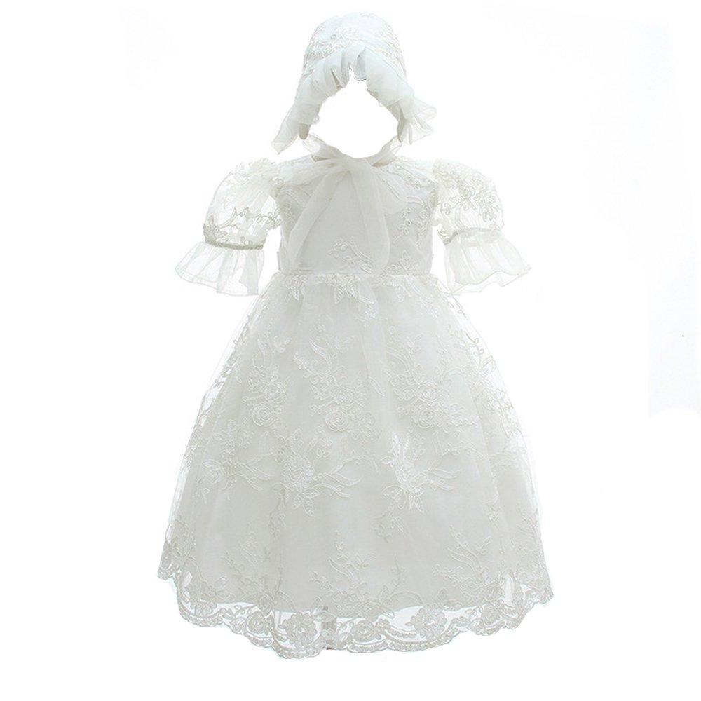 Baby Christening Dress Flower Girl Cute Party Long Dress