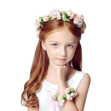 bc3464be31242 花嫁 髪飾り フラワーティアラ 結婚式 ヘアアクセサリー 子供服 キッズ フォーマル 結婚式 発表