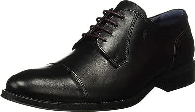 Fluchos | Zapato de Hombre | HERACLES 8412 Memory Negro Zapato de Vestir | Zapato de Piel de Vacuno de Primera Calidad | Cierre con Cordones | Piso de Goma Personalizado