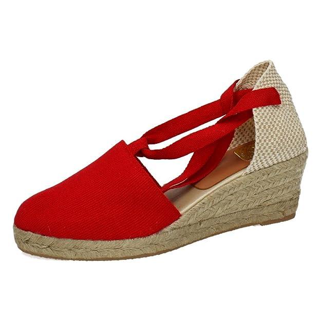TORRES Valenciana VALENCIANAS Rojas Mujer Alpargatas: Amazon.es: Zapatos y complementos