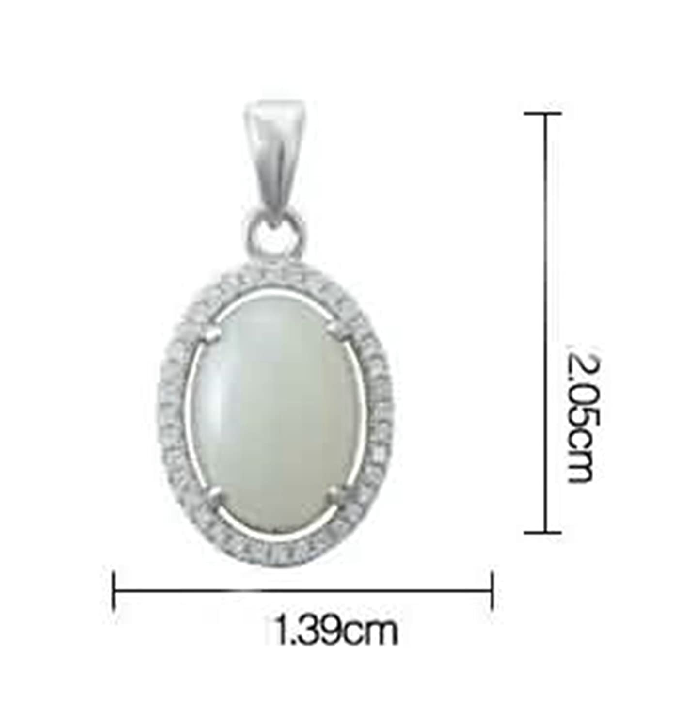 Aokarry Womens S925 Silver Pendant Necklace Egg Cubic Zirconia