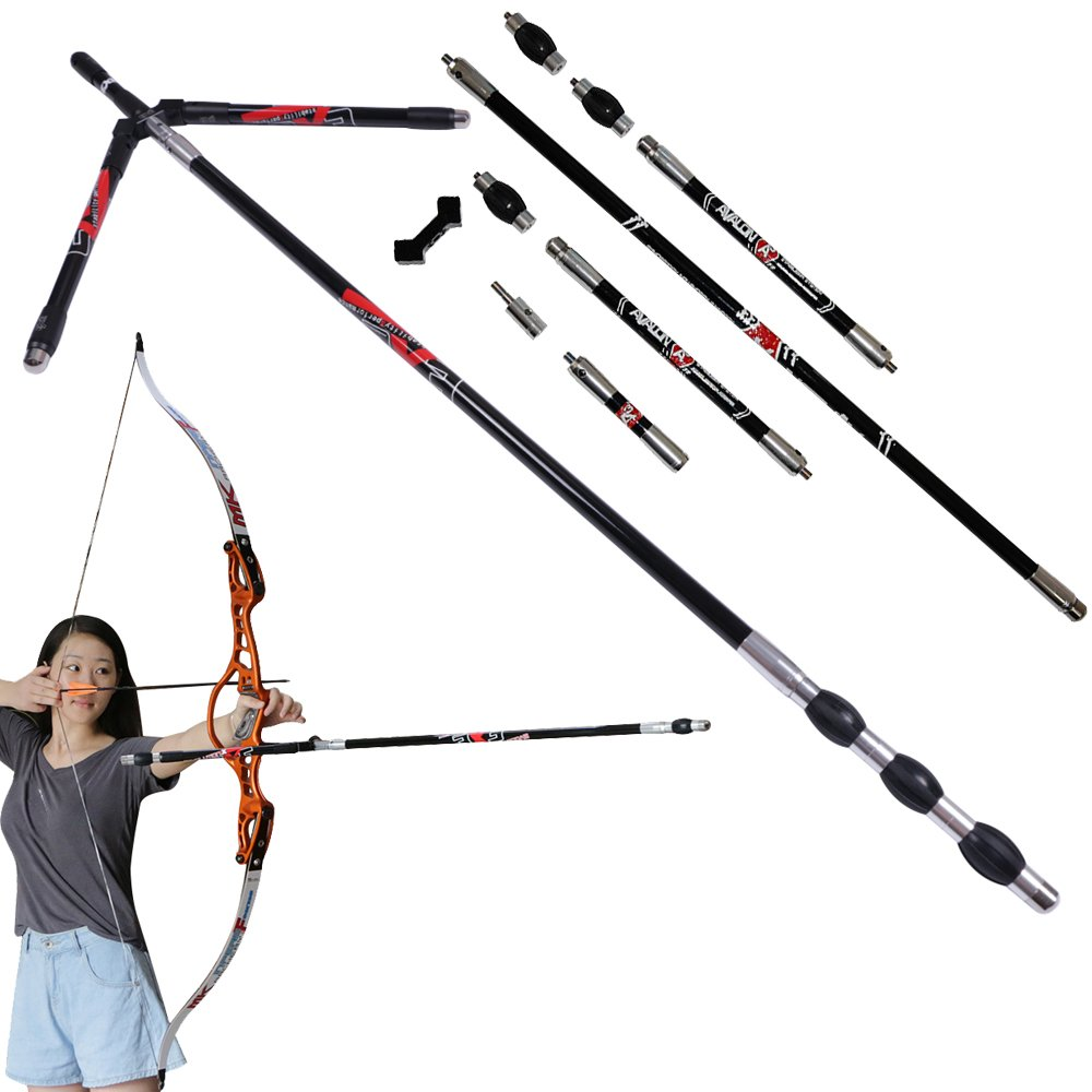 Toparchery Carbon Stabilizer System Archery Recurve Compound Bow Damping Rod Damper Shock Absorber Hunting