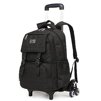 Amazon.com: Mochila con ruedas para equipaje, seis ruedas de ...