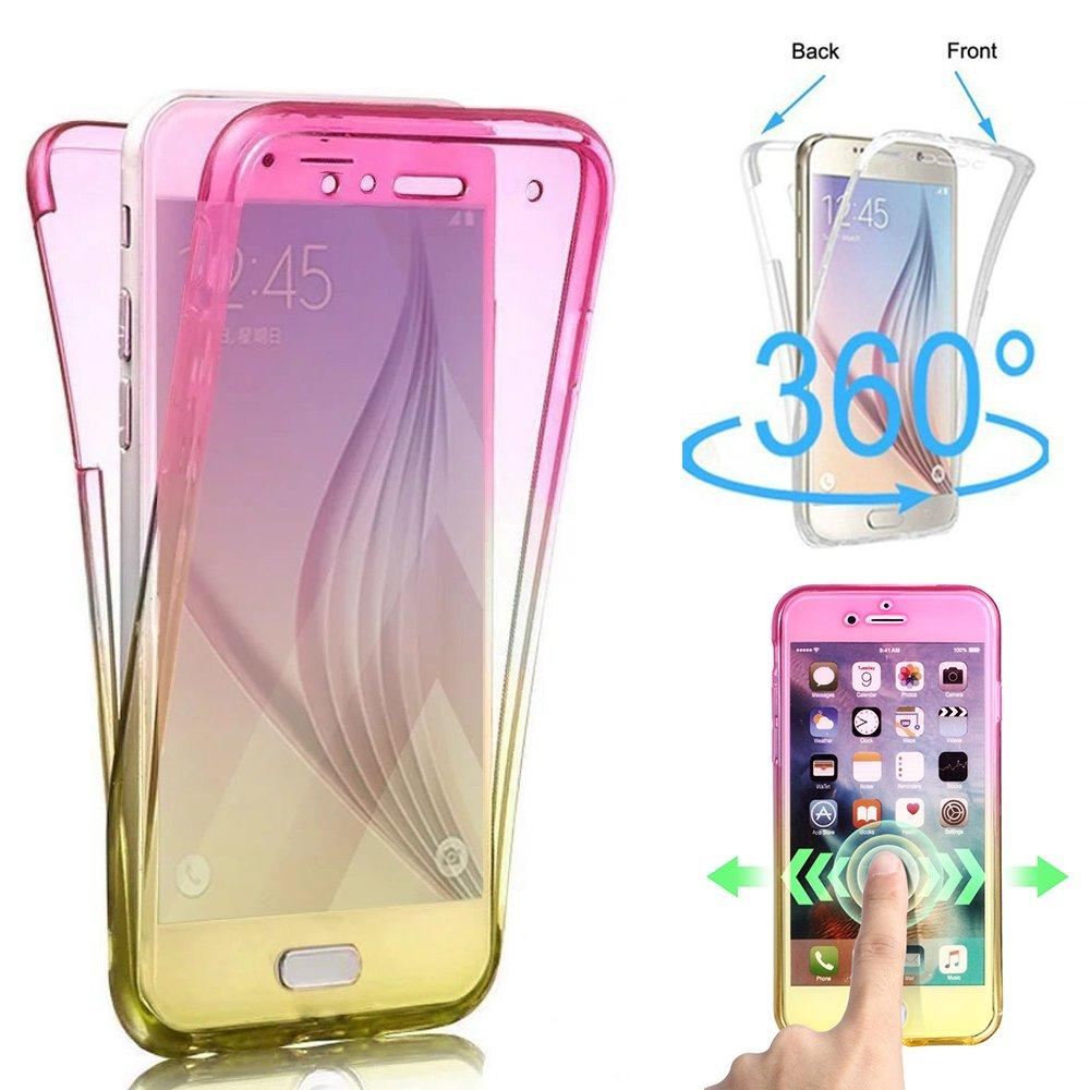 Shinyzone Custodia Samsung Galaxy S9 Plus, Antiurto 360 Gradi Protettiva Cover Davanti e Dietro Copertura in Silicone Morbido per Samsung Galaxy S9 Plus,Trasparente