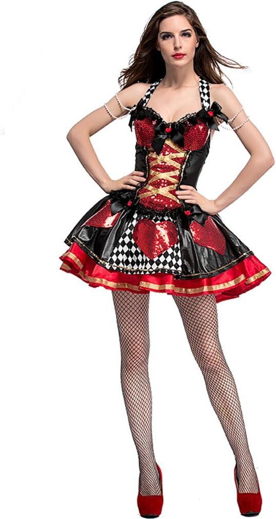 LCWORD Disfraz De Halloween Lentejuelas Corazones Reina Tablero De ...