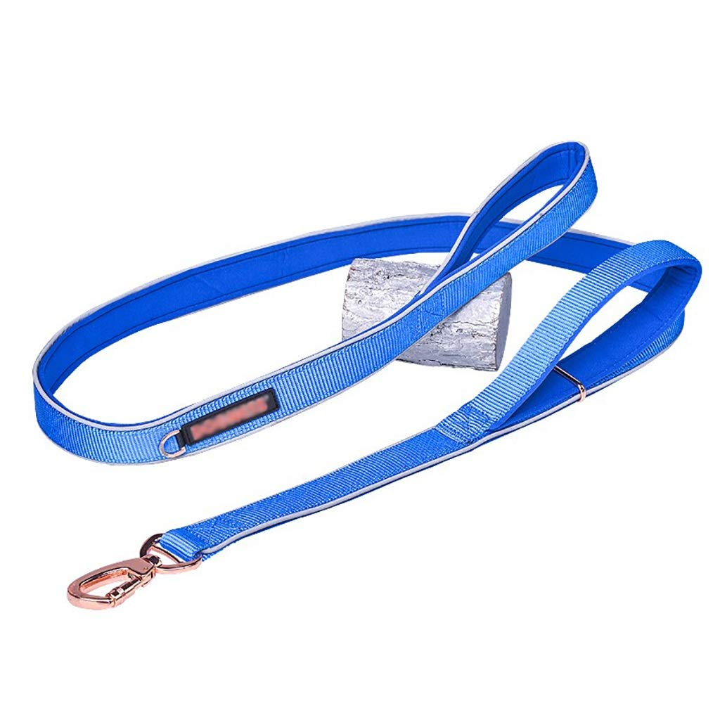 B 1522cmPet Supplies Traction rope Walking the dog rope Reflective tape can Adjustment soft comfortable solid durable (color   A, Size   152  2cm)