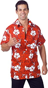 Horror-Shop Camisa Hawaiana Rojo: Amazon.es: Juguetes y juegos