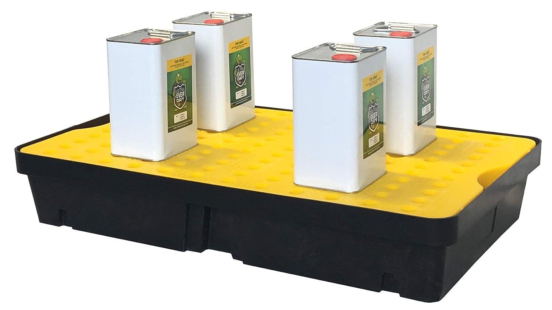TAP 0001039 Bac de r/étention en PEHD /à poser 60 L avec caillebotis 1000 mm x 600 mm x 175 mm