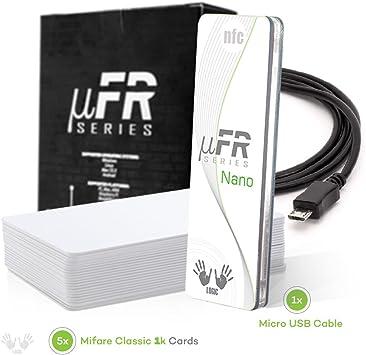 Amazon.com: uFR Nano RFID NFC Tag y lector de tarjetas ...