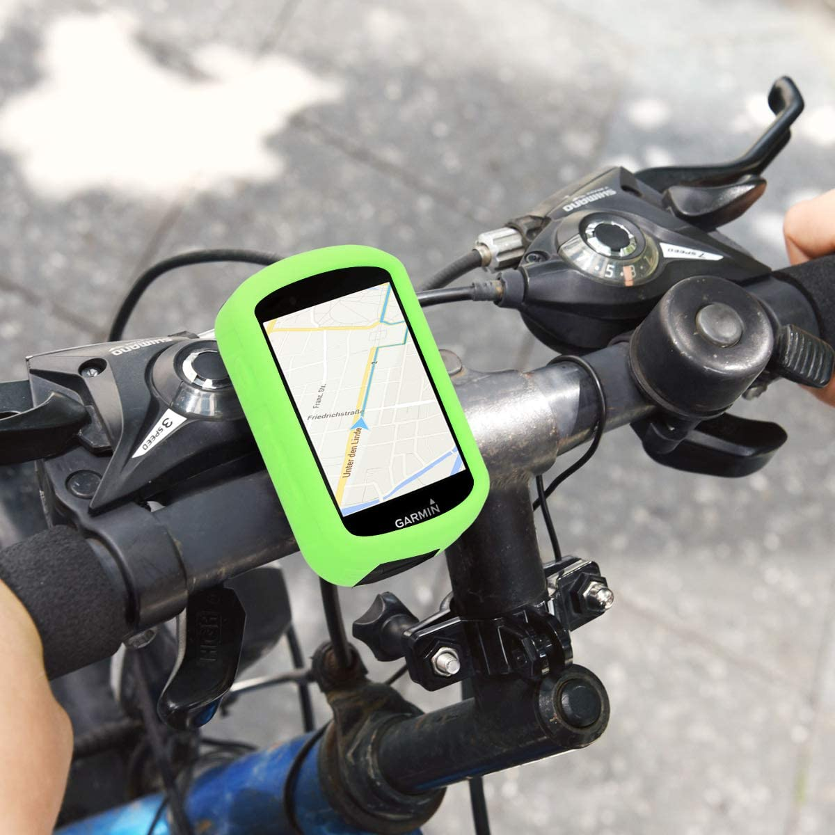 White Soft Silicone Bike GPS Navigation System Protective Cover kwmobile Case for Garmin Edge 530