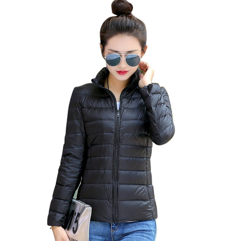 Women's Packable Down Puffer Jacket Light Weight Short Down Jacket