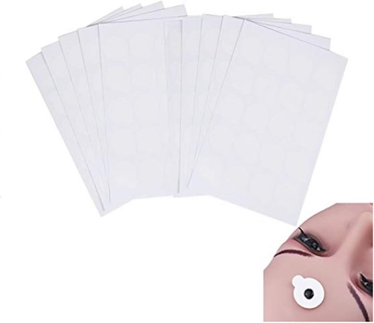 Pomeat 200pcs Disposable Eyelash Extension Adhesive Glue Pallet Sticker Pads 2.4 cm