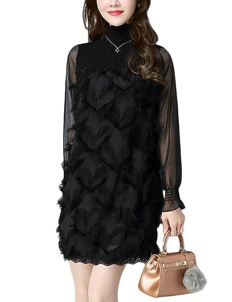 eb73d9bc3 Zantec Vestido negro elegante