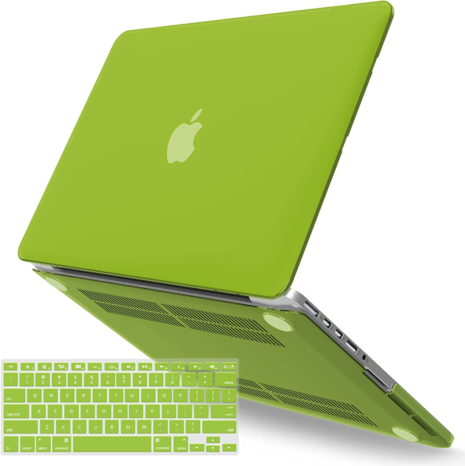 IBENZER MacBook Pro 13 Inch Case 2015 2014 2013 end 2012 A1502 A1425, Hard Shell Case with Keyboard Cover for Old Version Apple Mac Pro Retina 13, Avocado Green, R13AVGN+1