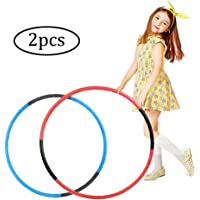 Hoola Hoop for Kids,2 Pcs Adjustable Weight Size Plastic Hoops for Sports Playing Games, Great For Adults & Pets(Blue…