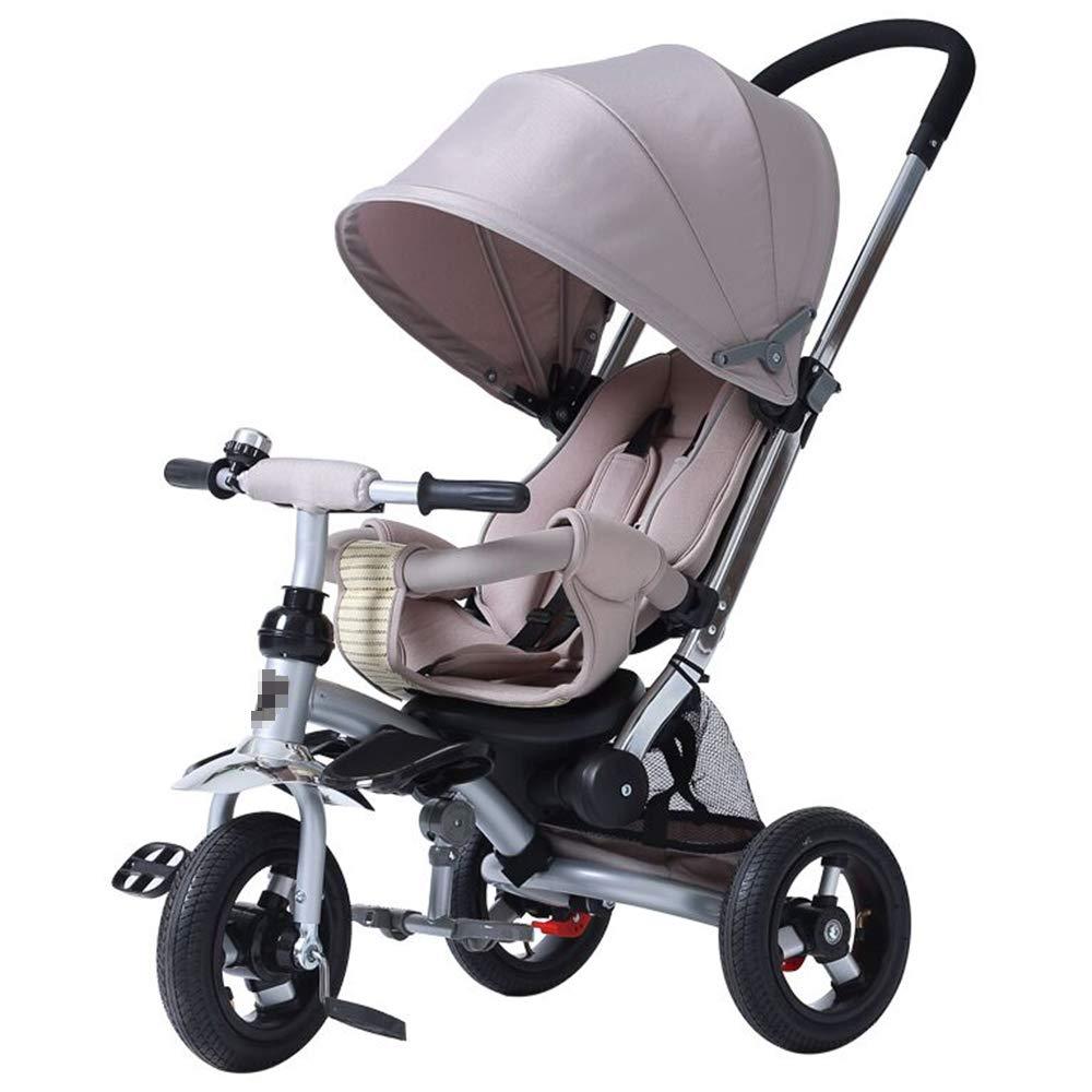 乳児用トロリー 子供の三輪車の自転車のライト折りたたみ式ベビーカー グレー (95*52*105cm)   B07Q856C65