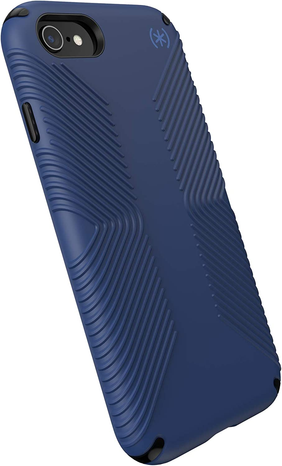 Speck Products Presidio2 Grip Case, Compatible with iPhone SE (2020)/iPhone 8/iPhone 7, Coastal Blue/Black/Storm Grey