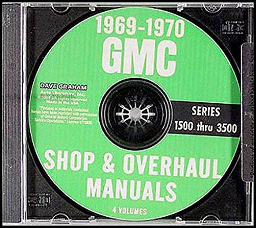 1969-1970 GMC REPAIR SHOP & SERVICE MANUAL SET on CD - Includes Pickup, Jimmy, Suburban, Van,Truck 1500 - 2500 - 3500, C, K, P Series, Crew Cab, Stake, Fenderside, Wideside, Custom, Super. etc ()